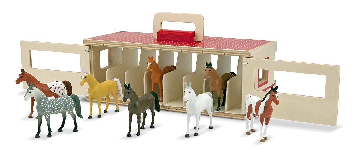 игрушечный загон для лошадей своими руками